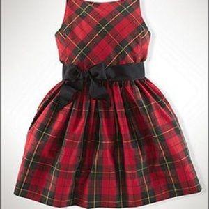 Ralph Lauren tartan taffeta holiday dress size 7